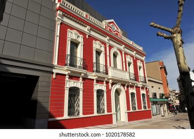 Puertollano, Spain - March 28, 2010: Municipal Museum of Puertollano in the old Town Hall building, Ciudad Real province, Castilla la Mancha, Spain