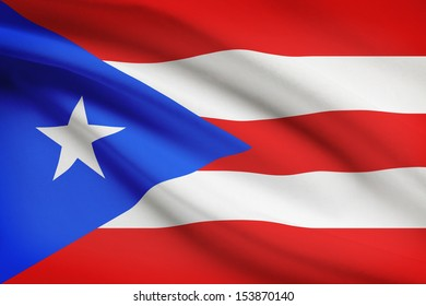 Puerto-Rican flag blowing in the wind. Part of a series.