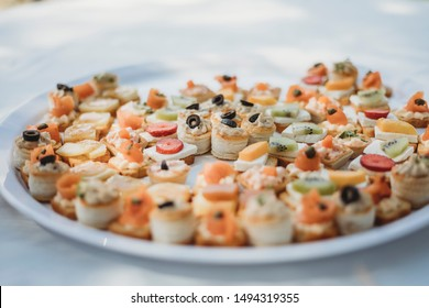 Puff Pastry canapes at wedding reception