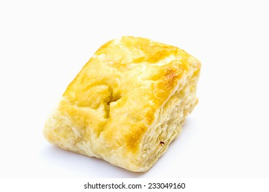 Puff pastry on isolate white background