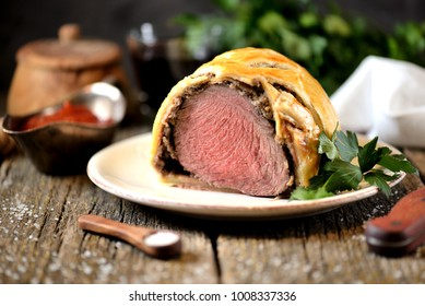 Puff Pastry Pie Beef Wellington.