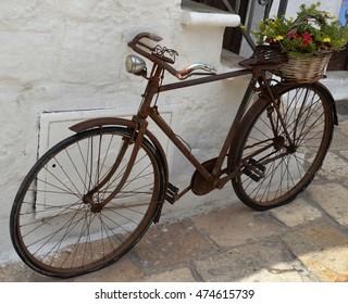 Puglia, Italy, Ostuni, a bike