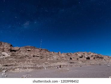 Pukara Of Lasana in a starry night