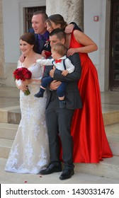 PULA CROATIA 05 22 2019: Traditional Croatian weddings are usually quite big, starting at approx. 80 and going up to 300 persons.