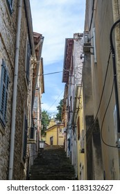 PULA, CROATIA - SEPTEMBER 17: Old town of Pula on 17th September 2016 in Pula, Croatia.