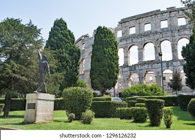 Pula Park Gardens, in Pula, Croatia, Europe on Thursday, 2nd August, 2019.