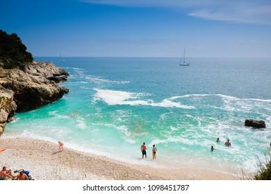 Pula/Croatia - 4 April 2018 Beautiful sea next to Pula, Croatia