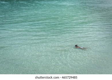 Pulau Perhentian, Trengganu, Malaysia, August 3, 2016 - Snorkeling in the Ocean