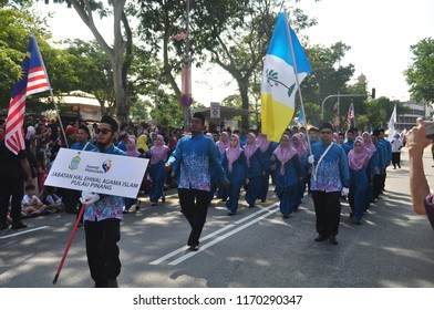 Pulau Pinang 31 august 2018 - The celebration of the national day celebration to the 60th level of the island of Pulau Pinang shows the various types of beautiful clothes to enliven the national day.