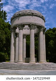 Pulgas Water Temple, Woodside, CA. Erected by the San Francisco Water Department to commemorate the 1934 completion of the Hetch Hetchy Aqueduct and is located at the aqueduct's terminus.