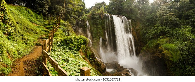 Pulhapanzak Waterfall in Honduras.
