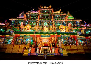 Puli Township, Nantou County, Taiwan - Dec. 02, 2020: Chinese altar, Taoist special dedication sacrificial ceremony once every twelve years in puli.