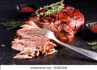 gepulstes Schweinefleisch