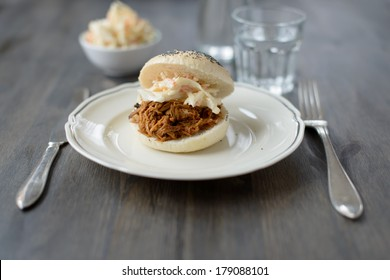 Pulled pork in a bun