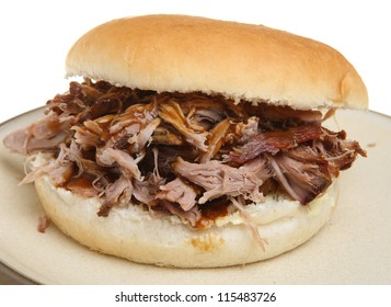 Pulled pork or hog roast sandwich