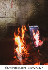 pulling the fire and phone with another phone