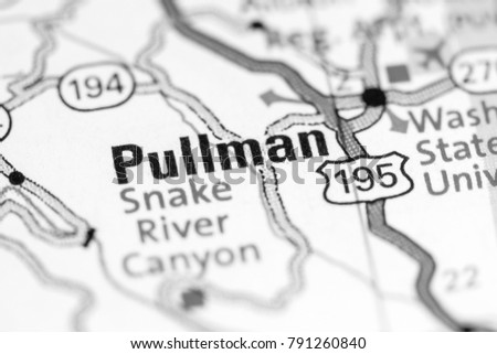 Pullman Washington State On Map Stock Photo Edit Now 791260840