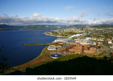 Pulp and Paper mill in Corner Brook, Newfoundland (Canada)