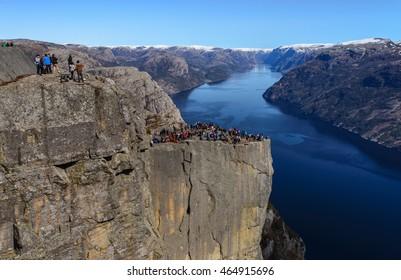 Pulpit Rock over lysefjord, Stavanger, Norway.