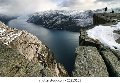 Pulpit Rock, view on the Lysefjord, Norway