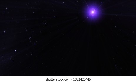 Pulsar in the galaxy and stars. Elements furnished by NASA.
