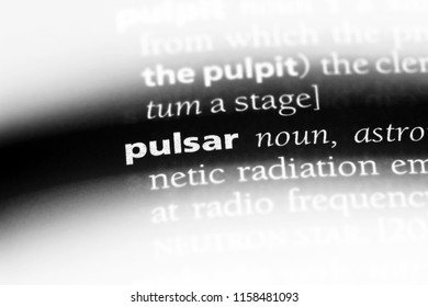 pulsar word in a dictionary. pulsar concept.