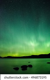 Pulse aurora over Lake Superior