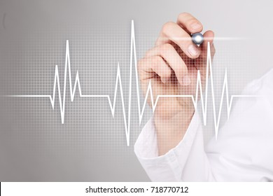 Pulse medical concept background. Medicine and healthcare.