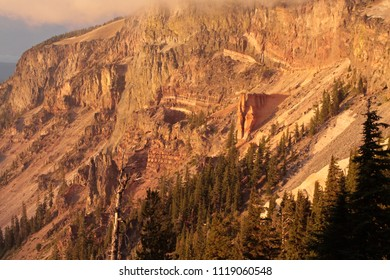 Pumice Castle from Pumice Castle Overlook, Crater Lake National Park, Oregon, USA