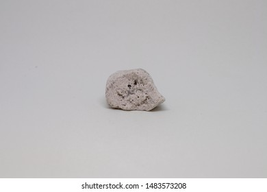 pumice mineral from Italy with white background