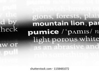 pumice word in a dictionary. pumice concept.