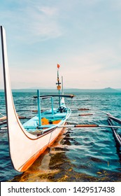 The pump boat on Taal Lake, Tagaytay City, Philippines.