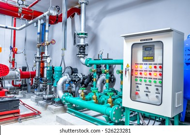 pump booster panel for water piping and fire control system