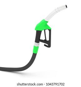 pump gasoline diesel fuel pistol grip 3D illustration
