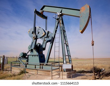 Pump jack in Permian Basin Oilfield, West Texas