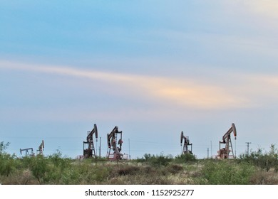 pump jacks in the Permian Basin