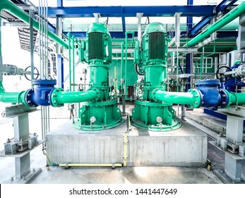 Pump and motor which popular to install with pipe in industrial such chemical, power plant, oil and gas.