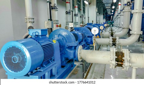 Pump and motor which popular to install with pipe in industrial such chemical, power plant.