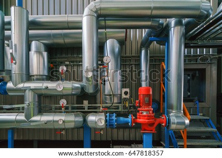 Pump Pipe Boiler Plant Stock Photo (Edit Now) 647818357 - Shutterstock
