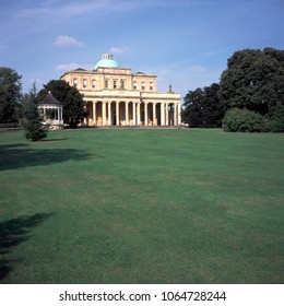 The Pump Room historic mineral water spa in Pittville Park, Cheltenham, Gloucestershire, UK