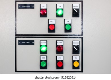 The pump and valve control panel