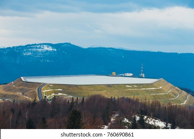 pumped storage power station at the top