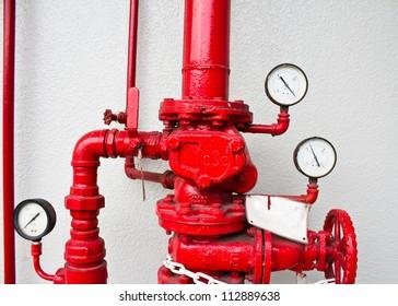 pumping and valve controls on a pumper firetruck.