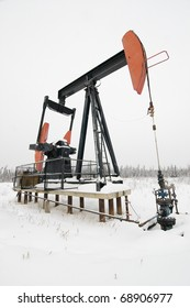 Pumpjack in northern Alberta. A piece of equipment used in the oil and gas industry.