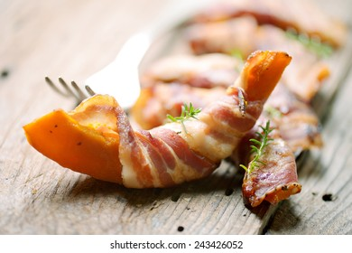 pumpkin with bacon