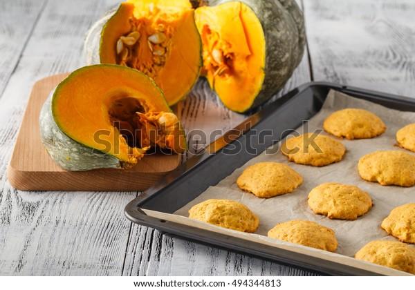 Pumpkin cookies on Halloween