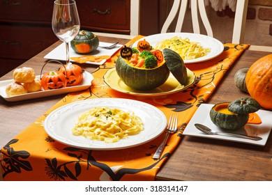 pumpkin cream fettucine