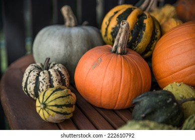 Pumpkin in different and various forms.