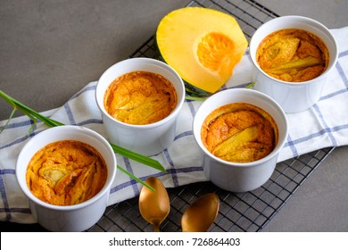 Pumpkin and egg custard infused with lemon grass