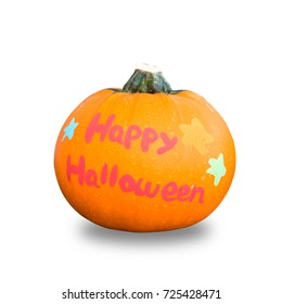 Pumpkin for Halloween isolated on white background., This has clipping path